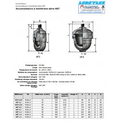 Accumulateur hydraulique - a membrane 1.50 L - HST150 - 300 B HST150 Accumulateur a membrane
