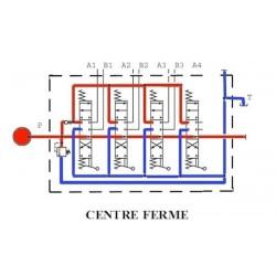 Distributeurs hydrauliques 60 L/mn - D.E - 4 L - 1/2 BSP - 315 B avec Limiteur Pression