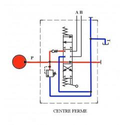 Distributeur hydraulique 130 L/mn - 3/4 BSP - D.E - 1 Levier - Limiteur Pression 140 B