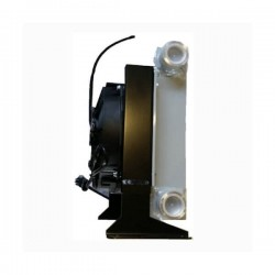 """Refroidisseur Echangeurs huile/air - 1 """" BSP - 24 VDC - 180 W - Débit 25 à 150 L ICT25024VDC Echangeur de chaleur huile/air 5..."""