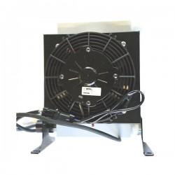 """Refroidisseur Echangeurs huile/air - 1 """" BSP - 24 VDC - 180 W - Débit 50 à 200 L ICT250224VDC Echangeur de chaleur huile/air ..."""