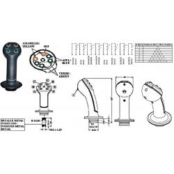 Poignées de commande Ergonomique : 6 Boutons