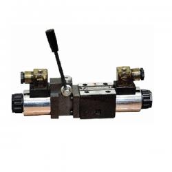 Electrodistributeur 12 VCC NG6 avec levier centre tandem - P sur T KVNG6EM212CCH Electro NG6 a levier centre tandem P sur T 1...