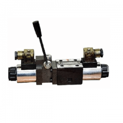 Electrodistributeur 110 VAC NG6 avec levier centre tandem - P sur T KVNG6EM2110CAH Electro NG6 a levier centre tandem P sur T...