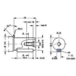 Moteur hydraulique OMP 100 - 1/2 BSP - drain 1/4 - arbre cyl Ø 25 MOMP100 Moteur type OMP - arbre DN 25