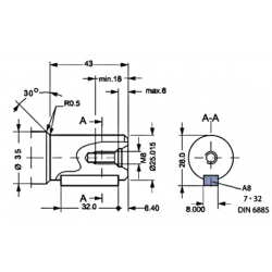 Moteur hydraulique OMP 315 - 1/2 BSP - drain 1/4 - arbre cyl Ø 25 MOMP315 Moteur type OMP - arbre DN 25