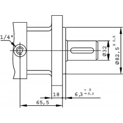Moteur hydraulique OMS 100 - 1/2 BSP - drain 1/4 - arbre cyl Ø 32MOMS100 Moteur OMS - Arbre DN 32 305,28€