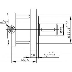 Moteur hydraulique OMS 200 - 1/2 BSP - drain 1/4 - arbre cyl Ø 32 MOMS200 Moteur OMS - Arbre DN 32