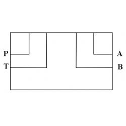 Embase pour 1 electro NG6 - EMBASE NG6 - SORTIE LATERALES A-B-P-T 3/8