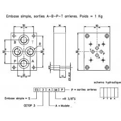 Embase pour 1 electro NG6 - EMBASE NG6 - SORTIE EN DESSOUS 3/8 ES3A38P 88,80 €