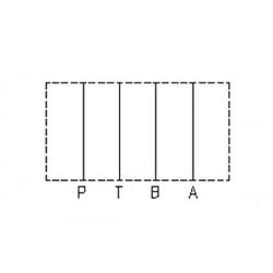 Embase pour 1 electro NG6 - EMBASE NG6 - SORTIE EN DESSOUS 3/8