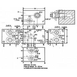 Embase pour 1 electro NG6 - 3/8 - Avec limiteurPF1CL180H Distributeurs hydraulique 140,64€
