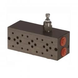 Embase pour 5 electro NG6 - 3/8 - Parallele - Avec limiteur PF5PLCL180H Distributeurs hydraulique