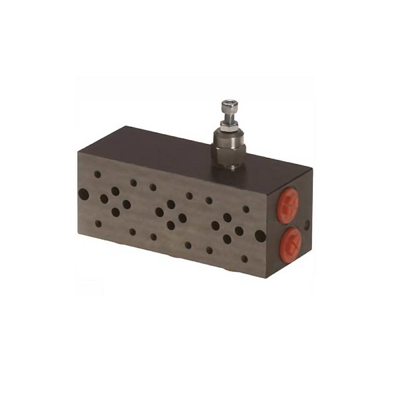 Embase pour 8 electro NG6 - 3/8 - Parallele - Avec limiteur PF8PLCL180H Distributeurs hydraulique