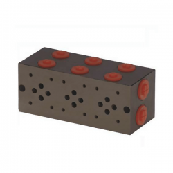 Embase pour 6 electro NG6 - 3/8 - Parallèle - Sans limiteurPF6PLH Distributeurs hydraulique 249,12€