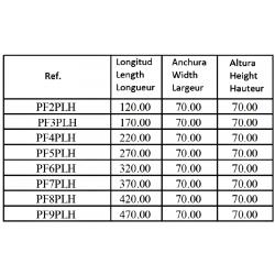 Embase pour 7 electro NG6 - 3/8 - Parallèle - Sans limiteur PF7PLH Distributeurs hydraulique