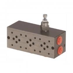 Embase pour 2 electro NG6 - 3/8 - Série et Tandem - Avec limiteur PF2SLCL180H Distributeurs hydraulique
