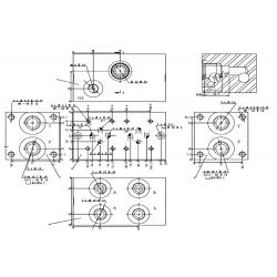 Embase pour 3 electro NG6 - 3/8 - Série et Tandem - Avec limiteur