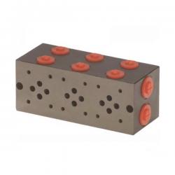 Embase pour 3 electro NG6 - 3/8 - Série et Tandem - Sans limiteur PF3SLH Distributeurs hydraulique