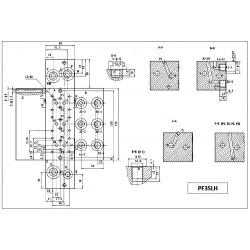 Embase pour 3 electro NG6 - 3/8 - Série et Tandem - Sans limiteur