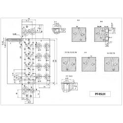 Embase pour 2 electro NG6 - 3/8 - Série et Tandem - Sans limiteur