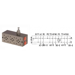 Embase pour 2 electro NG6 - 3/8 - Parallele - Avec limiteurPF2PLCL180H Distributeurs hydraulique 140,16€