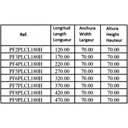 Embase pour 7 electro NG6 - 3/8 - Parallele - Avec limiteur PF7PLCL180H Distributeurs hydraulique