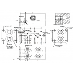 Embase pour 8 electro NG6 - 3/8 - Parallele - Avec limiteurPF8PLCL180H Distributeurs hydraulique 447,36€