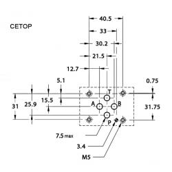 Anti-retour piloté en A et B sur embase Cetop 3APKV6DH Distributeurs hydraulique 60,48€