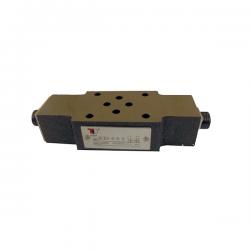 Etrangleur de débit en sortie A1 et B1 hydraulique sur embase Cetop 3 - NG6