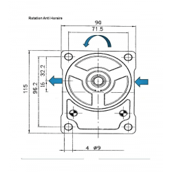 Pompe hydraulique FIAT - GAUCHE - 19 CC FIAT510625362 139,20 €