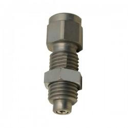 Manometre DN 63 à bain d'huile - Vertical 1/4 BSP - 1 bar