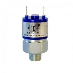 Pressostats Monocontacts a piston - N.O Réglables - Pression 300 Bar Maxi - Plage : 20 à 200 bar. K4ZAF1 Pressostat FOX K4 33...