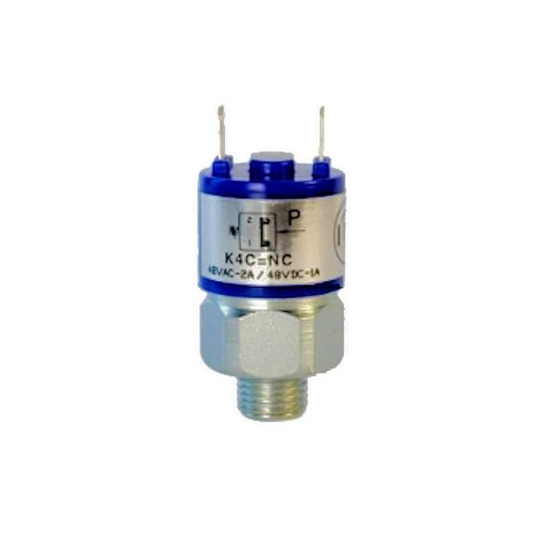 Pressostats Monocontacts a membrane - N.C Réglables - Pression 25 Bar Maxi - Plage : 1 à 12 bar.