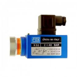 PRESSOSTAT K5 - 600 B - REGLABLE 40 à 400 BarsK59P Pressostat FOX K5 153,60€