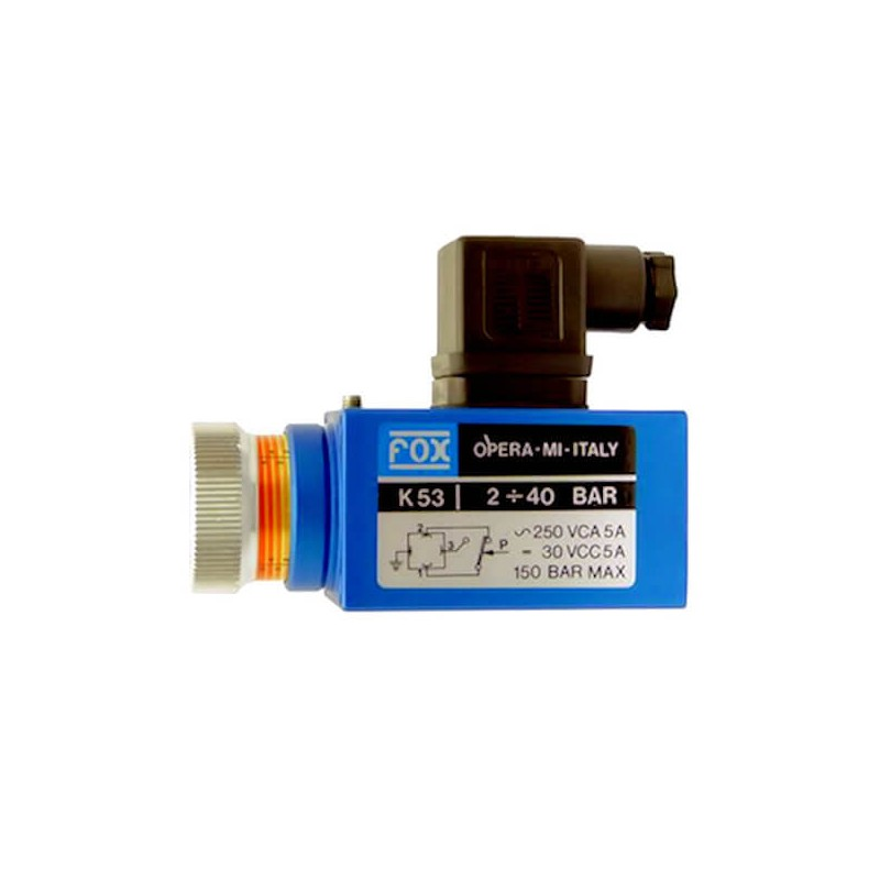 PRESSOSTAT K5 - 400 B - REGLABLE 20 à 200 BarsK55P Pressostat FOX K5 153,60€