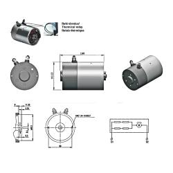 Moteur électrique Mini centrale 12 VDC - 1600 W MCM12CCH Moteur continu 12-24 VDC 206,40€