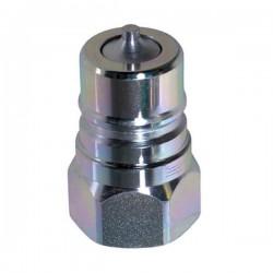 Coupleur hydraulique ISO A - Male 3/8 BSP - Débit 23 à 46 L/mn - PS 300 BarA800106 Coupleur male ISO A 6,53€