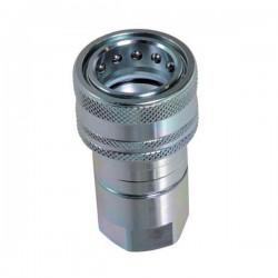 Coupleur hydraulique ISO A - Femelle 3/8 BSP - Débit 23 à 46 L/mn - PS 300 BarA800206 Coupleur femelle ISO A 14,40€