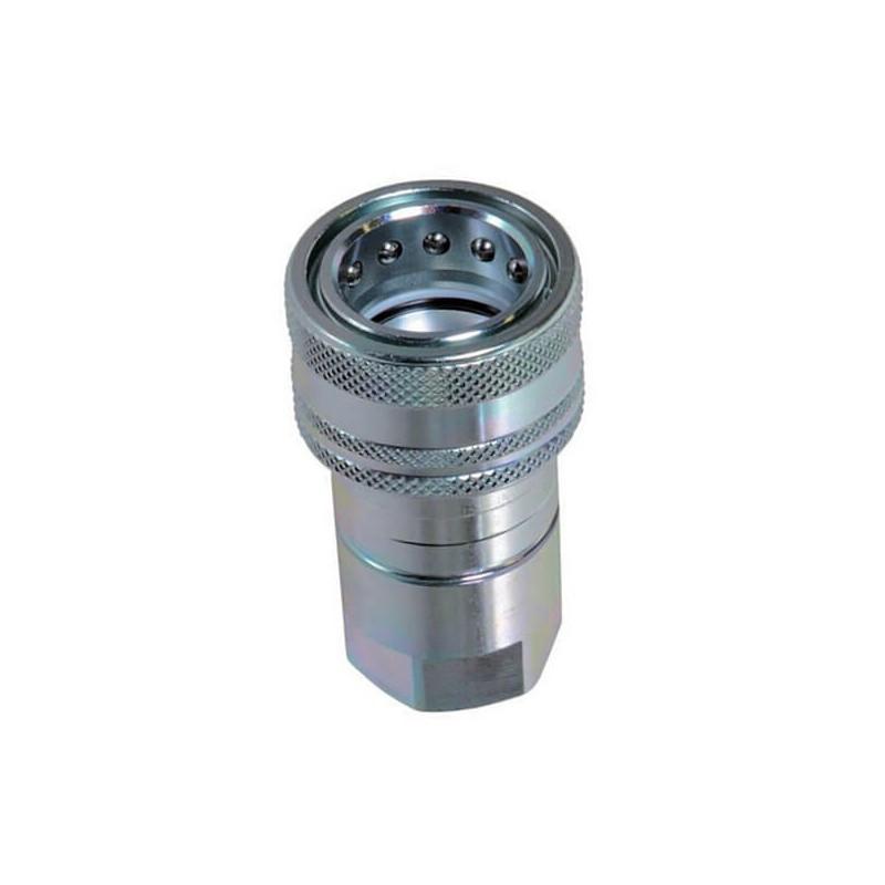 """Coupleur hydraulique ISO A - Femelle 1""""1/4 BSP - Débit 288 à 480 L/mn - PS 250 BarA800220 Coupleur femelle ISO A 163,20€"""