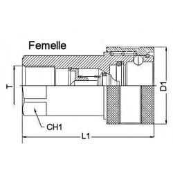 Coupleur hydraulique ISO A - Femelle 3/8 BSP - Débit 23 à 46 L/mn - PS 300 Bar