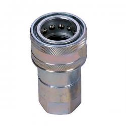 Coupleur hydraulique NV - Femelle DIN 1/4 BSP - Débit 12 à 24 L/mn - PS 400 Bar