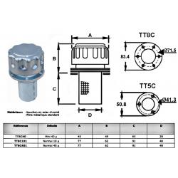 Bouchon de remplissage huile - 10µ - D 77 mm - H 153 mm