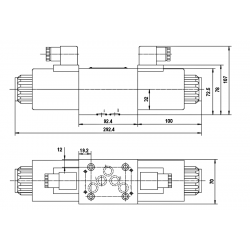 electro distributeur monostable - D-E - NG 10 - P sur T - A et B fermé - 12 VDC - DICSA N 2