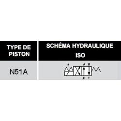 electro distributeur monostable - 4/2 - NG 10 - 24 V - Centre P vers A et B vers T- N51A KVNG1051A24CCH  110,40€
