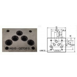 electro distributeur monostable - 4/2 - NG 10 - 12 V - Centre P vers A et B vers T- N51A