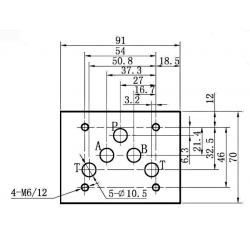 electro distributeur hydraulique monostable - NG10 - 4/2 CENTRE OUVERT - en H - 220 VAC. N3A.