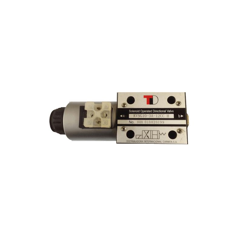 electrodistributeur 12 VDC monostable - NG10 - 3/2 - P vers A - B et T Fermé - N 41A. KVNG1041A12CCH  123,84€