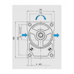 Pompe hydraulique LAMBORGHINI - Droite - 8 CC - Cone 1:5