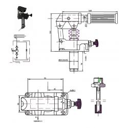 Pompe a main S.E - 250 B - 25 cc/REV - Avec levier - Sans réservoir